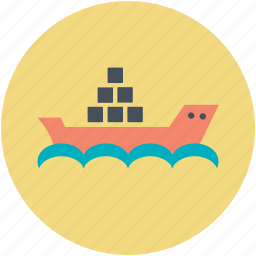 cargo ship, cargo vessel, container ship, export, shipping icon