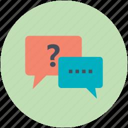 chat, chatting, communication, faq, speech bubble icon