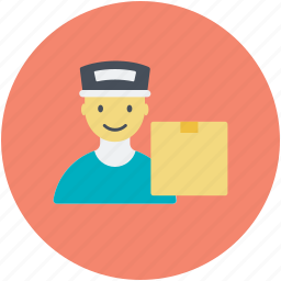 delivery man, home delivery, storekeeper, warehouseman, worker icon