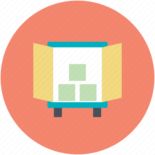 cargo, logistic, shipping, truck loading icon