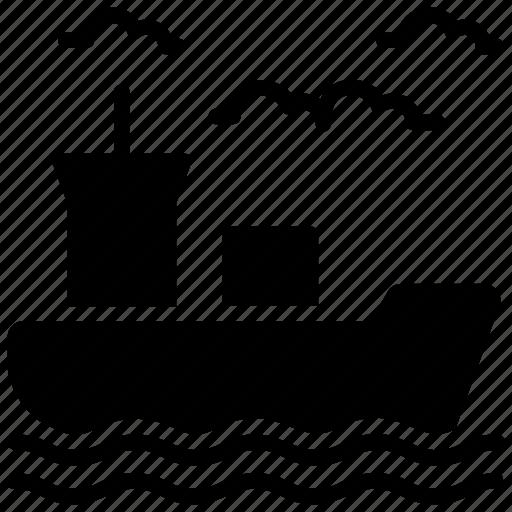 cargo ship, overseas delivery service, sea trade, seatrade, ship freight icon