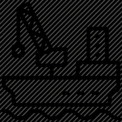 crane loading, port crane, ship crane, ship loader, ship loading icon