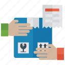 handling packing, logistic parcel, package delivery, parcel care, parcel handling icon