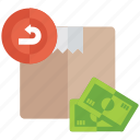 cash down, cash on delivery, cash payment, money down, payment method icon