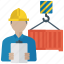 cargo container, container hanging, load container, shipping container, transporting container icon