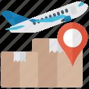 air freight, air logistics, air shipping, airbus, international freight icon