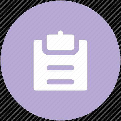 agenda, clipboard, list, record, shopping list, task, todo list icon