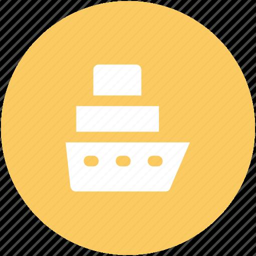 cargo ship, luxury cruise, sailing vessel, ship, shipment, shipping, travel icon
