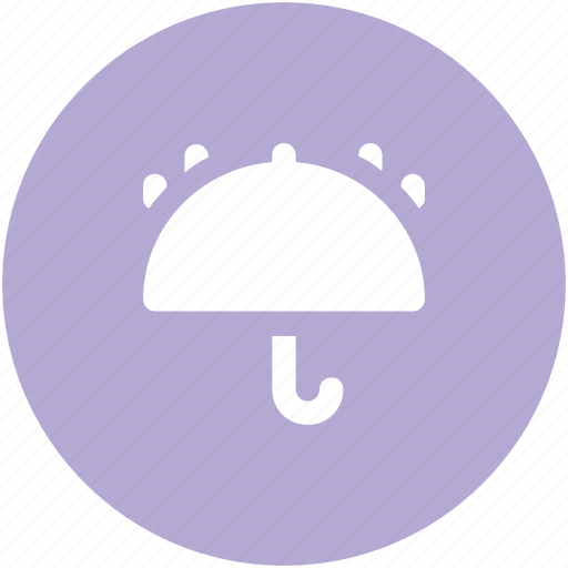 fragile symbol, keep dry, open umbrella, parasol, protection, raindrops, umbrella icon