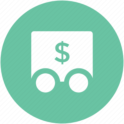 armored truck, bank transport, business vehicle, cargo, dollar delivery, dollar sign, money transport icon