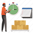 delivery, logistic, time, clock, timer, calendar, date