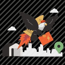 delivery, location, express, fast, logistic, navigation, marker