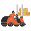 storage, delivery, forklift, logistic, woman, person, people