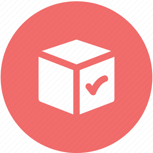 carriage, check mark, checkbox, confirm delivery, delivery box, shipment, validation mark icon