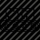 conveyor, belt, cardboard