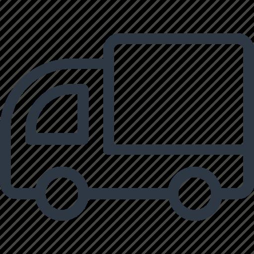 delivery van, hotel service, van, vehicle icon icon