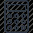 adding machine, calculating, calculator, finance icon icon