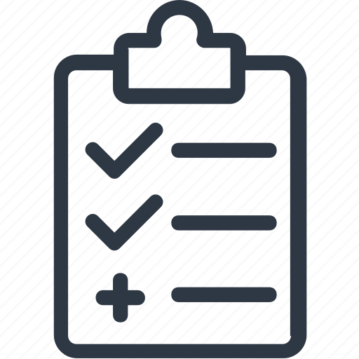 board, checklist, invoice, page, paper icon icon