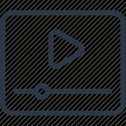 media, media player, movie player, multimedia, video player icon icon