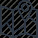gps, map, navigation, pin icon