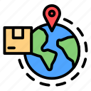 global, international, logistic, package, shipping icon
