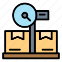 logistic, package, scale, tool, weight icon