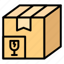 box, broken, fragile, logistic, package icon