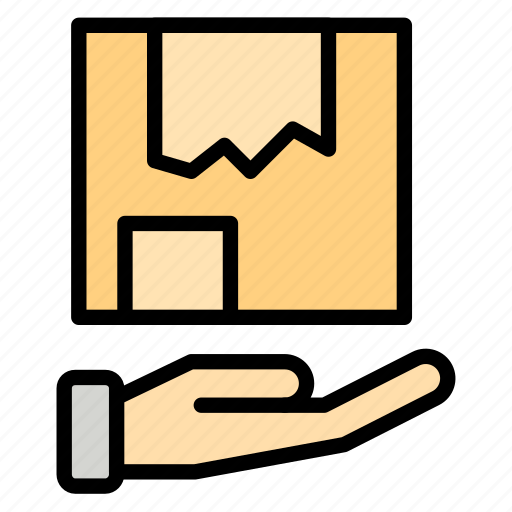 delivery, hand, logistic, package, shipping icon