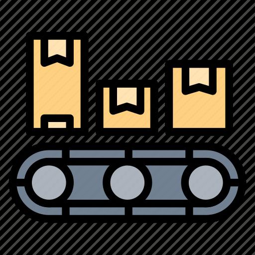 belt, conveyor, logistic, machine, shipping icon