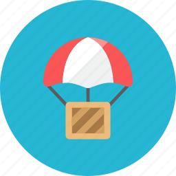 airdrop, box icon