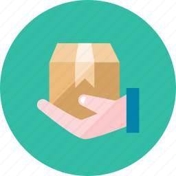 box, hand icon