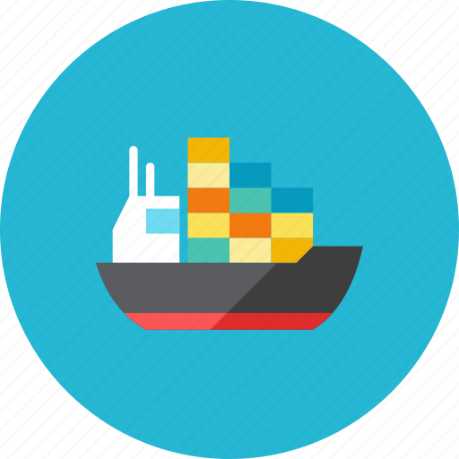 container, ship icon