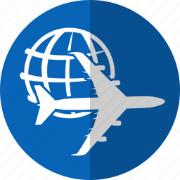 airplane, business, finance, financial, logistic, sent, world icon