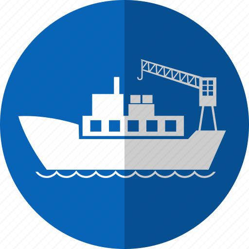 barge, barque, boat, container, logistic, ship, shipping icon