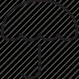 logistic, oper, umbrella icon