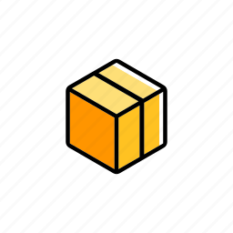 box, cardboard, container, package, product, shipping, storage icon