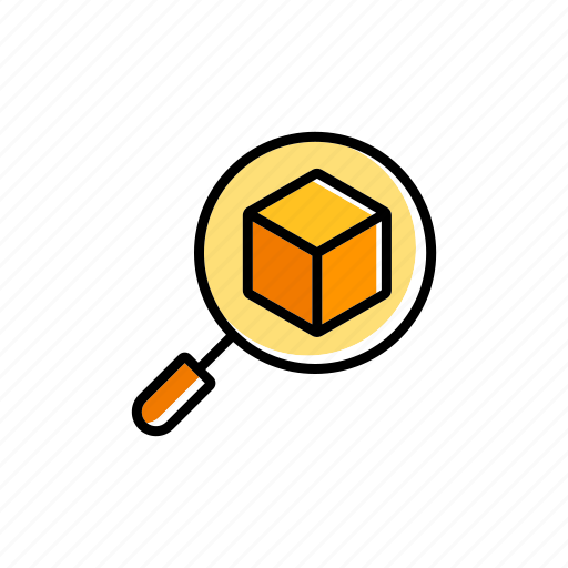 box, checking, enlarge, inspection, loupe, magnify icon