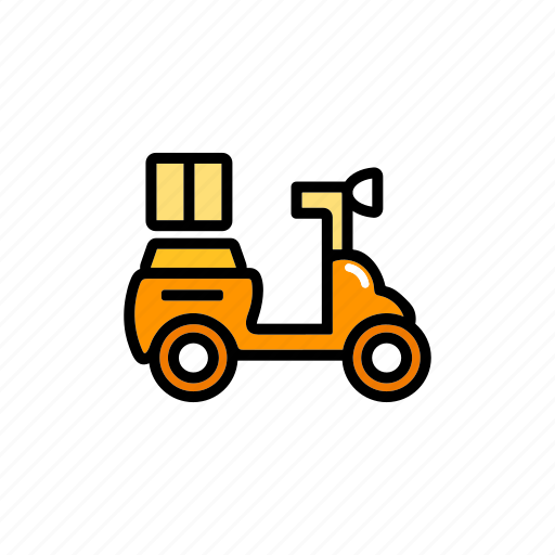 delivery, logistic, motorcycle, scooter, service, shipping, transport icon