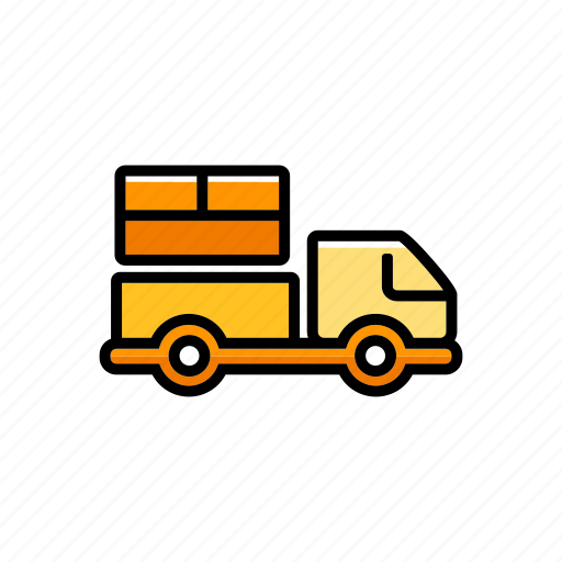 car, delivery, logistic, pickup truck, transport, vehicle icon