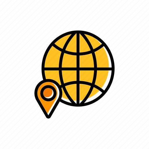 global, gps, location, logistics, map, navigation, tracking icon