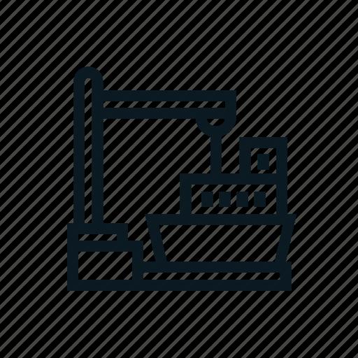 crane, logistic, port ship, shipment, shipping icon