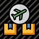 air cargo, international shipping, transport, logistics, shipment icon