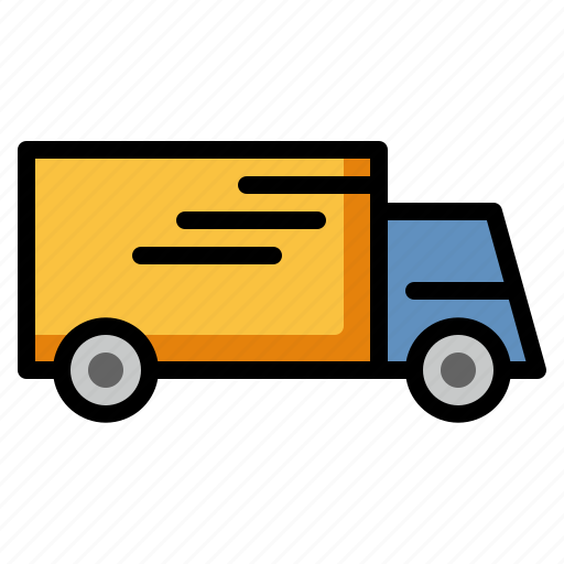 Delivery truck, logistics, shipping, cargo, transport icon - Download on Iconfinder