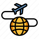 international shipping, transportation, travel, aeroplane, air cargo icon