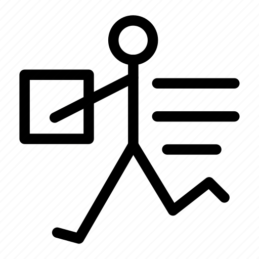 courier, delivery, human, logistic, man, people icon