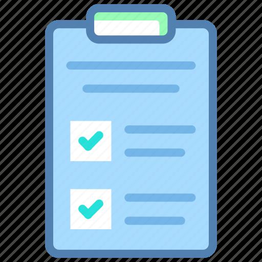 checklist, clipboard, notes, plan, shopping list, task, todo list icon
