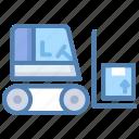 bendi truck, forklift, freight, shipment, shipping, transport icon