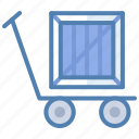 delivery, package, parcel, shipment, transport, trolley