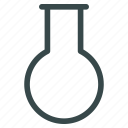 chemistry, empty, flask, laboratory, retort, round, test tube icon