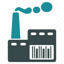 building, company, construction, factory, industry, power plant, smoke icon